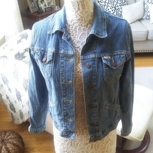 LEVI'S LIGHT Wash DENIM Stretch JACKET Coat SZ S
